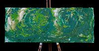 Gemälde AMELIE MACK & PHILIPP RAUSCHENBERGER handsigniert 40x100cm Original Art