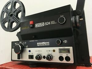 Eumig 824 Super 8 Standard 8 Sound Projector SERVICED 6 Month Guarantee Film Kit