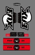 FOX RACING SHOX 32 SERIES FORK DECAL RED