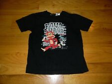 Boy's Paul Frank T shirt sz 5 Black Short Sleeve Graffiti Spray paint EXC