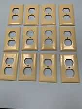 Vintage D8 Sierra Electric Outlet Plate Cover Lot of 12 Ivory Ribbed Free Ship