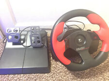 Logitech Wing Man Fourmula Force GP Racing wheel With Pedals And Power Adapter