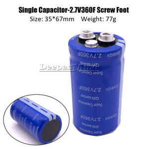 2.7V- 360F Farad Capacitor Component Super Electrical Capacitance 16.6-3400F