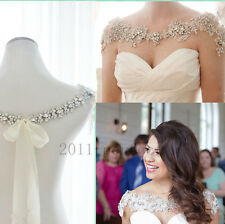 Rhinestones Wedding Jackets Custom Made Bridal Crystal Beads Crystal Wraps Capes
