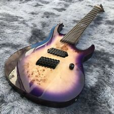 Electric Guitar 7 Strings with Black Hardware in Purple Complete Kit