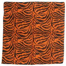 "Tropic Hats 3 Pack 22"" Square Bandana 100% Cotton Tiger Stripes Animal Pattern"