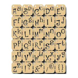 POCHOIR SOUPLE ALPHABET MINUSCULES ET MAJUSCULES REUTILISABLE JOY CRAFTS 19x24cm