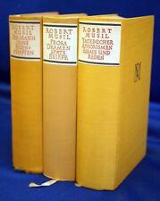 Robert Musil Gesammelte Werke 3 Bände in ERSTER AUSGABE 1952 - 1957.