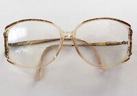 Vintage SAFILO Womens Brown Clear Oversized Hipster Eye Granny Glasses Frames