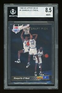 SHAQUILLE O'NEAL 1992-93 UPPER DECK #1 ROOKIE CARD RC BGS 8.5 (9.5 Centering) SP