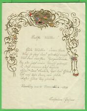 """Kinderbrief, """" Liebste Mutter ! """", Biedermeier, Luxuspapier, 1856"""