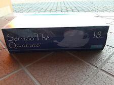 Servizio da the thè tè Quadrato in Porcellana marcato PassioneCasa 18 Pezzi