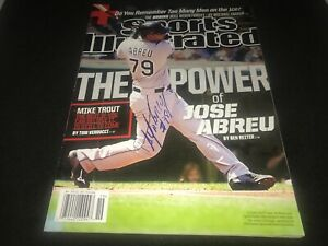 Jose Abreu Chicago White Sox Autographed Signed Sports Illustrated IMPERFECT 2