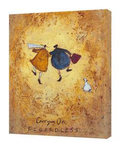 Sam Toft - Carrying On Regardless - 30 x 40cm Canvas Print Wall Art WDC92694