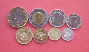 Morocco 1974-1995 1 Santim - Dirhams 8 Coins Set UNC