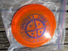 Groove Proto Champion Innova Collectable Golf Disc Clear Orange w/Purple stamp