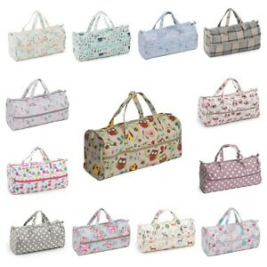 Knitting Bag / Holdall / Craft Bag ~ Fabric Handles ~ 21 Designs ~ Hobbygift