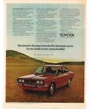 1970 Toyota CORONA Red Garnet 4-door Hardtop VTG PRINT AD