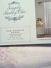 Rachel Ashwell Simply Shabby Chic window Panel Lavender Lilac floral rose Voile