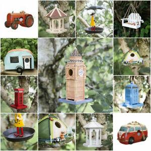 Novelty Hanging Bird House Nesting Box Feeder Wild Garden Birds Outdoor Nest