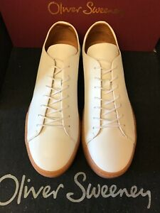 oliver sweeney, brand new white calf  leather , cupsole sneaker , size 9-5  uk
