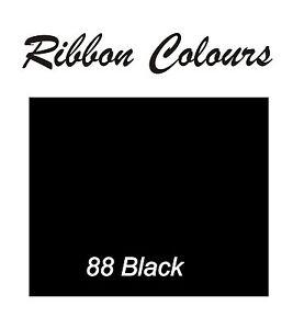 Personalized Black 25mm Ribbon Birthday Christmas Wedding Anniversary Hen , .