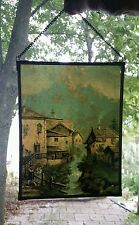 Vintage Antique Glass Suncatcher Window Hanging Painting Art Sun Catcher