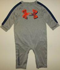 Under Armour All Season Gear Gray / Orange Ua Logo Baby Romper One-Piece 3/6M
