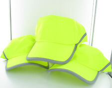 3 x Hi Vis Day / Night Work Safety Unisex HAT / CAP Reflective  BRAND NEW yellow