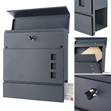 Briefkasten Wandbriefkasten Anthrazit Zeitungsfach Letterbox Mailbox Postkasten
