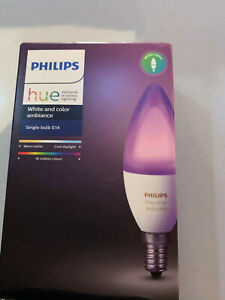 BRAND NEW BOXED Phillips Hue Single Bulb E14 White and Colour Ambiance MUST GO