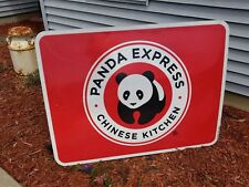 SUPER COOL 2 Sided Panda Express / Baymont Inn Suites Highway Road Sign 4 FEET!!