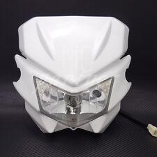 White H4 Front Headlight Dual Sport Dirtbike Off Road Motocross Street Supermoto