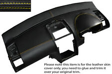 YELLOW STITCH DASH DASHBOARD LEATHER SKIN COVER FITS VW TOURAN 2003-2010