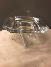 Partylite Discover Pillar Holder P8163 RETIRED Faceted Luster Rainbow Glass