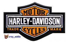 HARLEY DAVIDSON CLASSIC LONG BAR & SHIELD VEST PATCH *MADE IN USA * OLD SCHOOL *