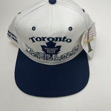 Vintage Toronto Maple Leafs Snapback Hat # 1 Apparel Hat Cap NHL NWT