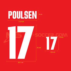 Denmark Home World Cup 2002 PU Football SOCCER NAME NUMBER PRINT