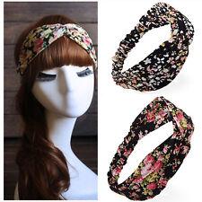 Fashion Women Cotton Turban Twist Knot Head Wrap Headband Knotted Hair Band 1pcs