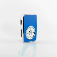 Mp3 Player Blau  + Clip Mini Mp3 USB Musik Player