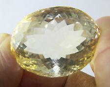 101.75 Cts Big Huge Oval Cut Natural Yellow Citrine Gemstone 33.1x25.7x19.4 mm