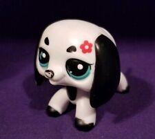 Littlest Pet Shop #2365 Walkables White & Black Dachshund Puppy Dog no batteries