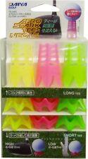 DAIYA Golf Tee Aero Spark Tea Neo LS TE-440 Yellow / Green / Pink Japan