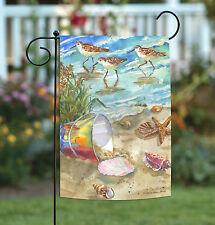 Toland Sea Shore Sandpipers 12.5 x 18 Colorful Summer Beach Bird Garden Flag