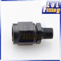 "-8 AN AN-8 8AN Female Swivel to Male 3/8"" NPT Fitting Adapter Aluminum Black"