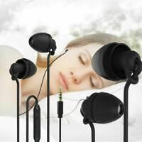 3.5MM Silicon Wired Sleep Earphone In Ear Earbuds Stereo Bass Headset Headphone