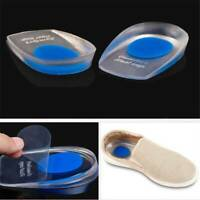 Silicone Heel Support Shoe Insert Pads Plantar Cushion Pain Relief LP