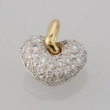 18ct Yellow and White Gold Mappin & Webb Diamond Heart Pendant
