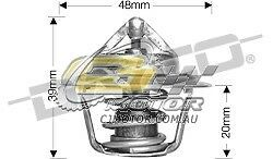 DAYCO Thermostat FOR Daewoo Lanos 8/97-3/03 1.5L 8V MPFI 63kW A15SMS