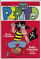 Pepito 1.Jahrgang Nr.33 von 1972 mit Die 7 Schnuckel - TOP Z1 Kauka Comicheft